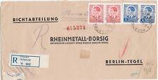 JUGOSLAWIEN 1940 Regist.censored PRIJEDOR to Berlin censor label and censor mark