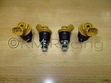 4x New Subaru Yellow Side Feed 550cc 555cc Fuel Injectors 16600-AA170