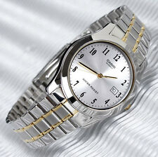 Casio Men's Analog Gold 2 Tone Steel Band Date Display Watch MTP-1141G-7B New