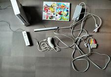 Nintendo Wii Gamecube Konsole Weiss Remote Nunchuk 2 Spiele alle Kabel Sensor
