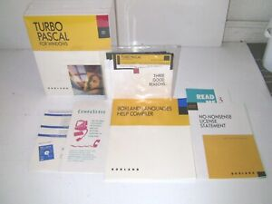 Borland Turbo Pascal Version 1.0 Software for Windows, New Sealed