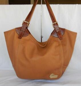 Dooney & Bourke Valerie Large Tan Leather Tote Hobo Bag