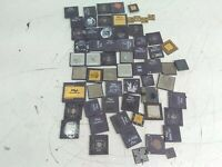 Gold Reclaim MIXED Lot Ceramic CPUs For Scrap Gold Recovery 3.90lbs