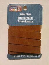 "Artminds Suede Strip .5""x36""/ 12mm x 90cm Medium Brown"