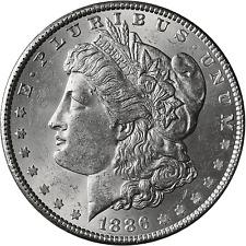 1886-P Morgan dólar de plata BU-uncirculated brillante