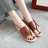 Women Flat Roman Casual Flip Flops Slip On Summer Beach Shoes Sandals Slingback