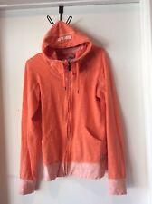 Bench Orange Hoodie Full Zip Up Jacket Sweater Cardigan Track Jacket Women Sz M