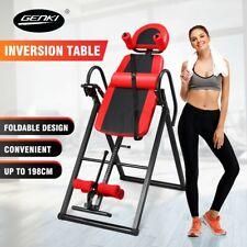 Genki Gravity Inversion Table Heavy Duty Folding Adjustable Home Fitness Machine