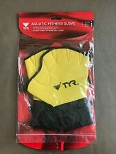 TYR Aquatic Fitness Gloves Small Yellow