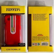 Coque téléphone portable pour Samsung I 9000 Galaxy S Ferrari rouge