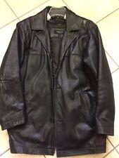 Liz Claiborne Men's Large Black Lambskin Leather Jacket