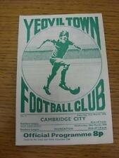 21/03/1976 Yeovil Town v Cambridge City  (rusty staple). Item in very good condi