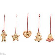 Villeroy & Boch CHRISTMAS Nostalgic Gingerbread Ornaments s/5 # 5976