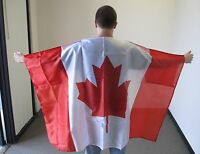 CANADA CAPE WITH SLEEVES FLAG 3X5 FEET CANADIAN 3'X5' NEW F1076