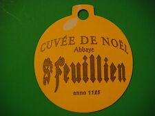 Beer Coaster ** Brouwerij St FEUILLIEN Since 1125, Cuvee de Noel Yellow Ornament