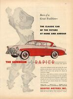 1956 Sunbeam Rapier ROOTES Motors 2-Door PRINT AD