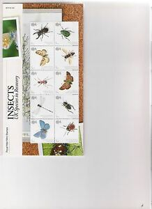 2008 ROYAL MAIL PRESENTATION PACK INSECTS UK SPECIES IN RECOVERY