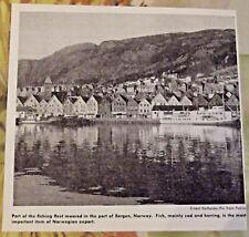 1962 Part of the Fishing Fleet moored in the port of Bergen,Norway art print