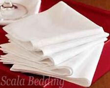 Set of 12 Piece Egyptian Cotton wHITE Solid Napkin