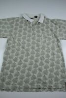 Vintage Christian Dior Monsieur Polo Shirt Size L Floral Striped Pocket Designer