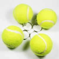 KQ_ Lovely Artificial 3D Tennis Ball Pendant Keyring Keychain Sports Key Chain E