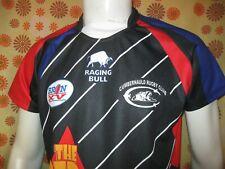 Ancien MAILLOT RACING BULL EMS BRON XV CUMBERNAULD RUGBY CLUB TXL Shirt Jersey