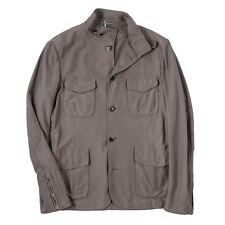 RODA Grayish Brown Knit Cotton 'Sapporo' Travel Jacket L (Eu 52) NWT