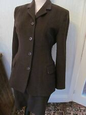 fab jigsaw 1940s style brown wool and cashgora skirt suit size 8/6