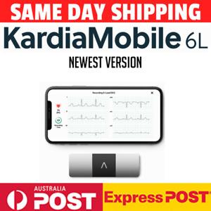 AliveCor KardiaMobile 6L Wireless 6-Lead EKG Smartphone Detects AFib Normal AU