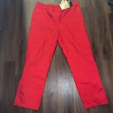 NWT Black Ice Men's XL Snow Pants Red Gore-Tex Polyester Outer Nylon Lining