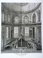 GRAVURE ORIGINALE Chapelle Moustapha III Tableau général EMPIRE OTTOMAN 1787