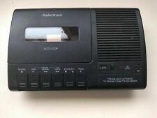 Radio Shack Reproductor de teléfono activado con voz cassette grabador de TCR-200.