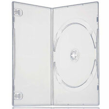 100 X Single Slimline DVD Case Clear 7mm Spine With Clear Front Cover Sleeve