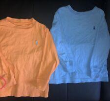 Lot Of 2 Ralph Lauren Polo Toddler Boys Unisex Size 2T Long Sleeve Tee Shirt