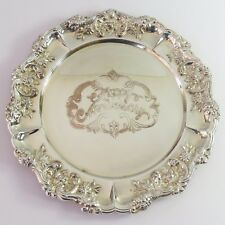 Vintage Rodd Silverplate Plate/Dish Tray, Happy Anniversary, Floral