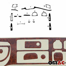 Wooden Look Dashboard Console Trim Kit 15 Pcs for Kia Sportage 2010-2015