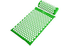 ProSource Acupressure Mat w/Pillow Back Neck Pain Relief Muscle Relaxation Green