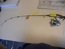 "Handmade Custom Ice Fishing Rod Medium Ice Rod 26"" Shakspeare MicroseriesReel"