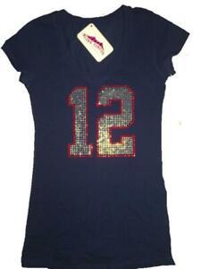 WOMENS GIRLS Tampa Bay Tom Brady Bling Sparkle Tompa Bay Tampa Brady Jersey Top