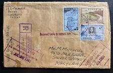 1965 Nukualofa Tonga Toga Registered Cover To Silver Spring MD USA