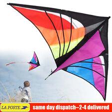 30M Triangle Cerf-Volant Poignée Ligne Dévidoir Ficelle Enfants Extérieur Sport