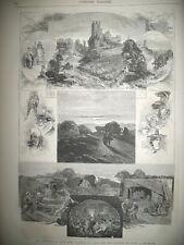 BOURGOGNE VENDANGES MAGASIN PYGMALION Bd SEBASTOPOL ROI CHARLES XV GRAVURES 1872