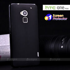 BLACK MATTE & GLOSSY GEL TPU JELLY CASE COVER FOR HTC ONE MAX