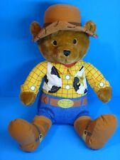 Disney Toy Story Woody Teddy Bear Sheriff 16'' Stuffed Plush Animal Toy VGUC