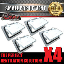 X4 Small White Pop up Roof Air Vent. Trailer Canopy Camper Caravan Horsefloat