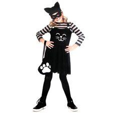 Girls Cat Burglar Halloween Costume & Mask, 5-Piece Set Size M (8-10) NWT Child