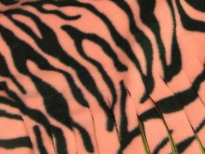 Handmade Scarf Muffler - Black and Pink Zebra Stripe Fleece Neckwarmer