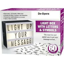 New Light Box Led Cinematic Light Box Letters & Symbols Message Display