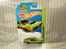 2015 HOTWHEELS ''HW WORKSHOP'' #213 = `68 HEMI BARRACUDA = GREEN  us.