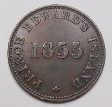 1855 Prince Edward Island Self Government And Free Trade PE-7A1 VF+ P.E.I. Token